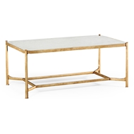 Jonathan Charles Home Glomis & Gilded Iron Rectangular Coffee Table 494144