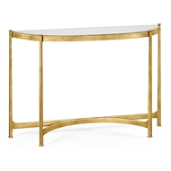 Jonathan Charles Home Glomis & Gilded Iron Demilune Console (Large) 494149