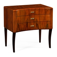 Jonathan Charles Home Art Deco Curved Chest Of Drawers