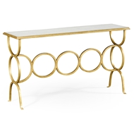 Jonathan Charles Home Glomis & Gilded Iron Circles Console 494156