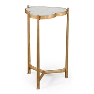 Jonathan Charles Home Glomis & Gilded Iron Trefoil Lamp Table