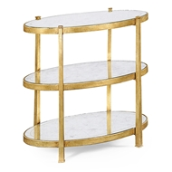 Jonathan Charles Home Glomis & Gilded Iron Three-Tier Table (Small)