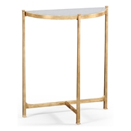 Jonathan Charles Home Glomis & Gilded Iron Demilune Console (Small) 494180