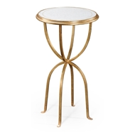 Jonathan Charles Home Glomis & Gilded Iron Lamp Table With Bunched Legs 494189