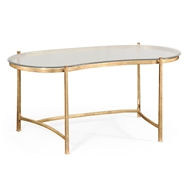 Jonathan Charles Home Bronze Kidney Desk & Glass Top 494214-B Antique Bronze Finish on iron