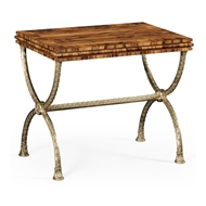 Jonathan Charles Home Argentinian Walnut Rectangular Side Table