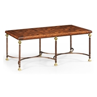 Jonathan Charles Home Parquetry & Iron Coffee Table
