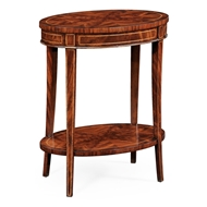 Jonathan Charles Home Mahogany Oval Lamp Table