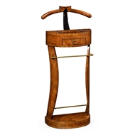 Jonathan Charles Home Crotch Walnut Valet Stand with Stud Box 494296