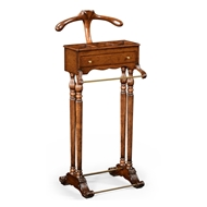 Jonathan Charles Home Regency Style Walnut Valet Stand with Stud Box 494297