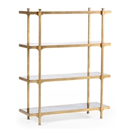 Jonathan Charles Home Glomis & Gilded Iron Four-Tier Tagere