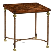 Jonathan Charles Home Parquetry & Iron Side Table