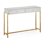 Jonathan Charles Home Glomis & Gilded Iron Box Console 494325