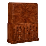 Jonathan Charles Home Art Deco Style Secretaire 494335-SAH-STS Santos Rosewood High Lustre