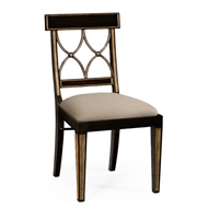 Jonathan Charles Home Regency Black Painted Curved Back Chair (Side) 494347-SC-EBF-F001 Ebonised