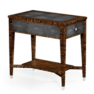 Jonathan Charles Home Faux Macassar Ebony & Anthracite Shagreen Side Table