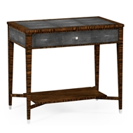 Jonathan Charles Home Faux Macassar Ebony & Anthracite Shagreen Sofa Table
