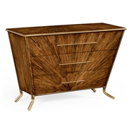 Jonathan Charles Home Argentinian Walnut Veneered Tapering Chest Of Drawers 494413-LAW Argentinian Walnut Light