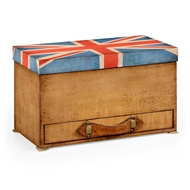 Jonathan Charles Home Union Jack Rectangular Box Painted 494420-WLL Walnut Light