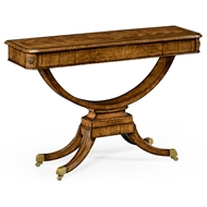 Jonathan Charles Home Biedermeier Style Crotch Walnut Sofa Or Side Table