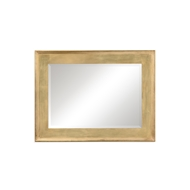 Jonathan Charles Wall Decor Rectangular Gold Leaf Mirror 494461-GIL Antique Gold-leaf Light