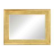 Jonathan Charles Wall Decor Rectangular Silver Leaf Mirror 494461-SIL Antique Silver-leaf light on wood