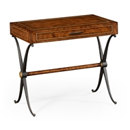 Jonathan Charles Home Hammered Iron Side Table With Drawer
