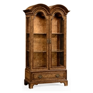 Jonathan Charles Home Queen Anne Pollard Veneer Bookcase with Glazed Doors 494485