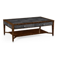 Jonathan Charles Home Anthracite Shagreen Coffee Table 494519-MAS Shagreen Anthracite