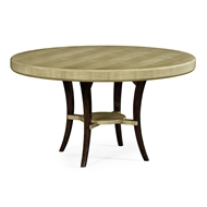"Jonathan Charles Home 54"" Opera Art Deco Round Dining Table 494574-54D-GSH"