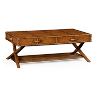 Jonathan Charles Home Travel Trunk Style Coffee Table
