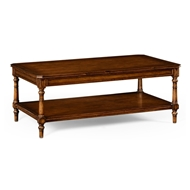 Jonathan Charles Home Victorian Style Walnut Coffee Table