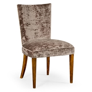 Jonathan Charles Home Biedermeier Style Walnut Dining Side Chair (Calico)