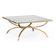 Jonathan Charles Home Glomis And Gilded Iron Square Coffee Table (Gold) 494838