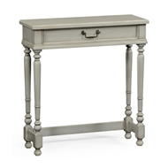 Jonathan Charles Home Grey Painted Rectangular Side Table 494886-ACS Painted Antique Clary Sage