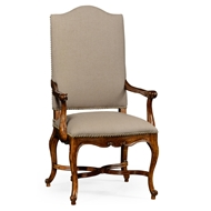 Jonathan Charles Home French Baronial Style Country Armchair 494888-AC-WAL-F001 Walnut Medium