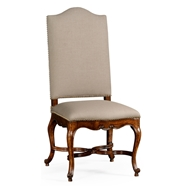 Jonathan Charles Home French Baronial Style Country Side Chair 494888-SC-WAL-F001 Walnut Medium