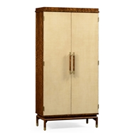 Jonathan Charles Home Hyedua And Ivory Finish Tall Drinks Cabinet 494919-LVH Ivory Homespun Finish