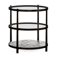 Jonathan Charles Home Painted Bronze Finish Three Tier Table 494920