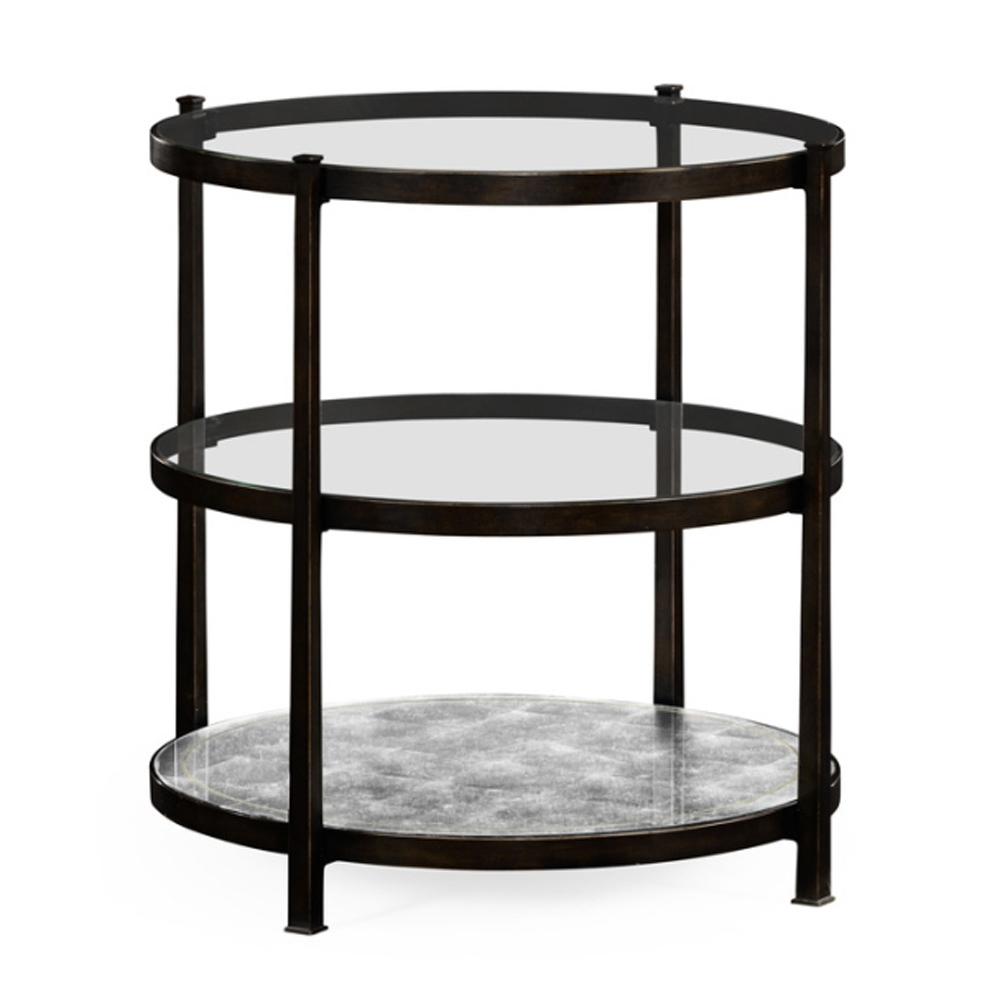 Jonathan Charles Home Painted Bronze Finish Three Tier Table