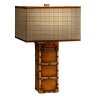 Jonathan Charles Lighting Travel Trunk Style Table Lamp 494961