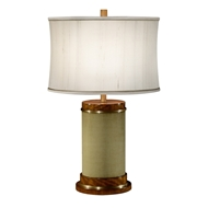 Jonathan Charles Lighting Sage Finish Hyedua Circular Table Lamp 494969-LSH Sage Homespun Finish