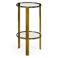 Jonathan Charles Home Brass Round Lamp Table
