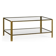 Jonathan Charles Home Brass & Glass Coffee Table 494977