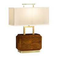 Jonathan Charles Lighting Tea Caddy Table Lamp With Brass Detailing 494987-DLF
