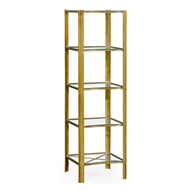Jonathan Charles Home Brass & Glass Five Tier Etagere 495012