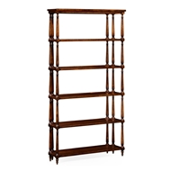 Jonathan Charles Home Five Tier Etagere with Triple Column Supports 495021