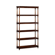 Jonathan Charles Home Five Tier Etagere with Double Column Supports 495022
