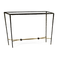 Jonathan Charles Home Bronze Hammered Rectangular Console 495026