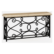 "Jonathan Charles Home 72"" Width Rectangular Limed Wood Console 495064-72L-LMA Limed Acacia"